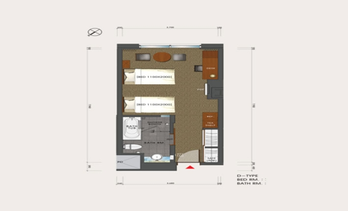 Lotte City Hotel Mapo - Guest Room - Deluxe Room - FLOOR PLAN
