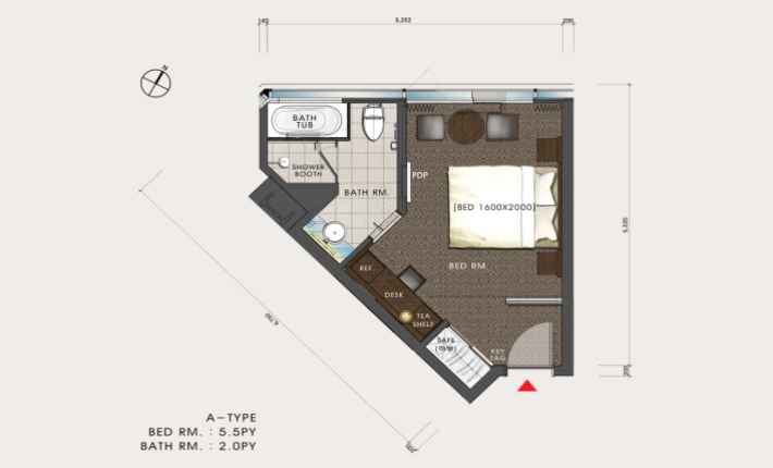 Lotte City Hotel Mapo - Rooms - Superior Room-FLOOR PLAN
