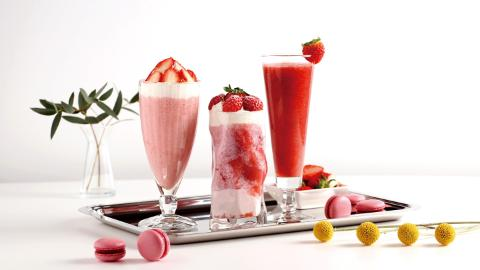 Strawberry, juice, latte, smoothie