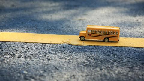 School bus, Yellow line