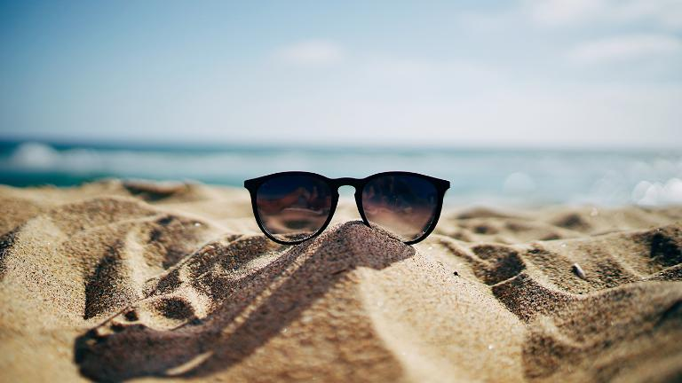 Summer, Beach, Sandy beach, Sunglasses