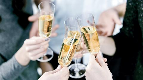 Champagne, congratulations, parties, bar