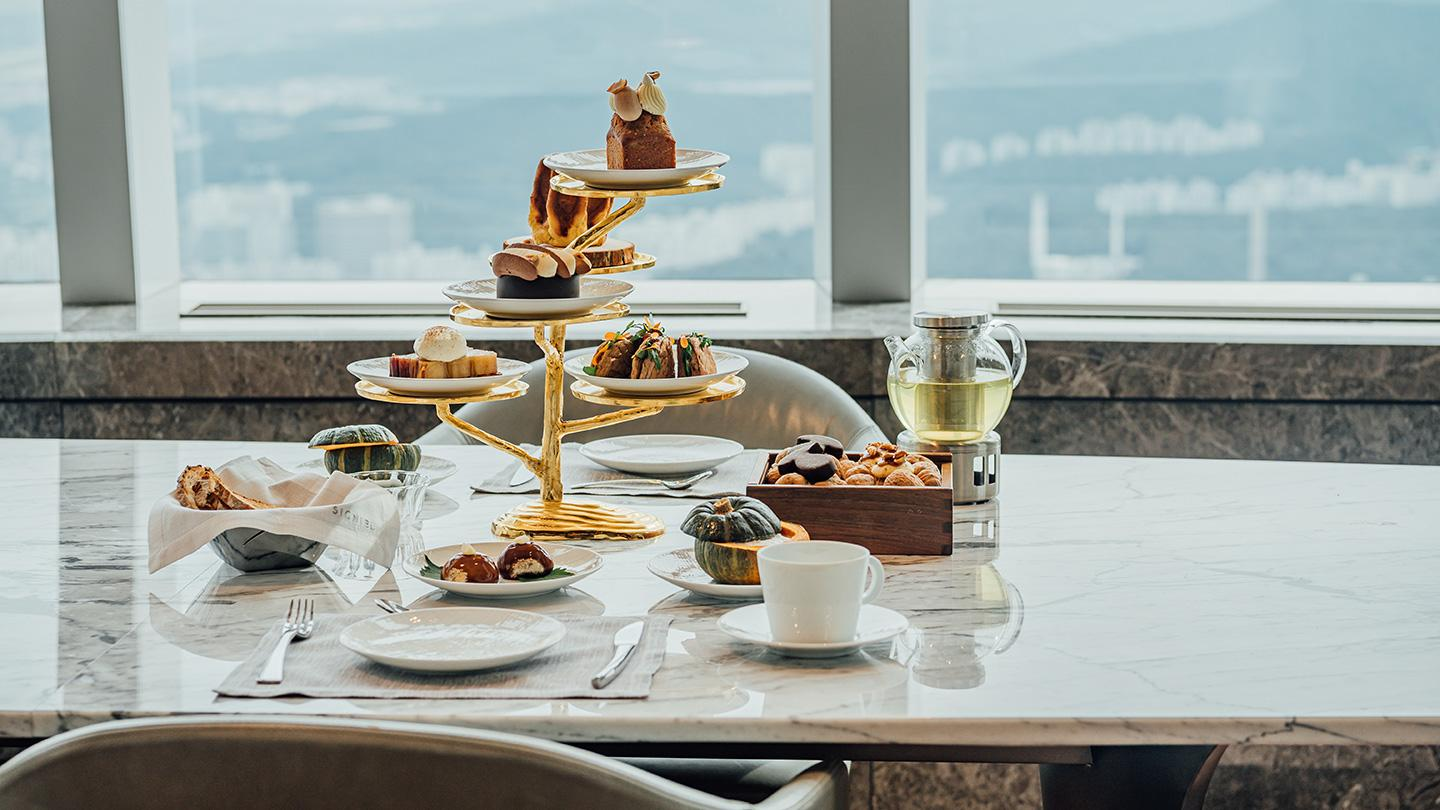 Le Gouter, afternoon tea set, the lounge, lounge, signiel, signiel seoul, autumn