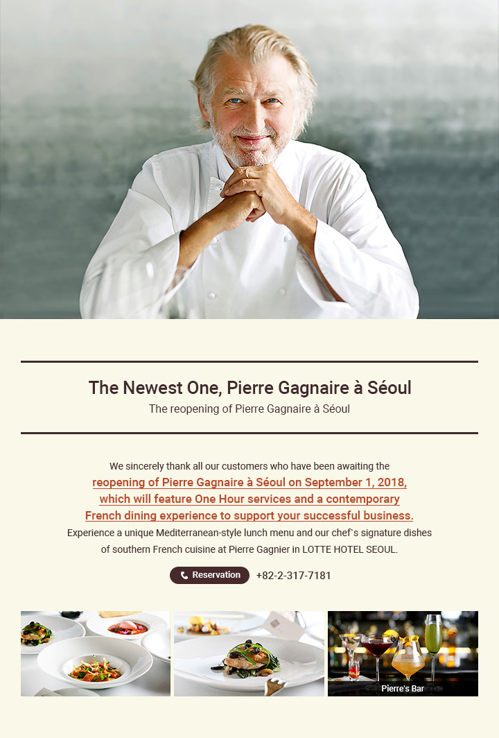 The Newest One, Pierre Gagnaire a Seoul